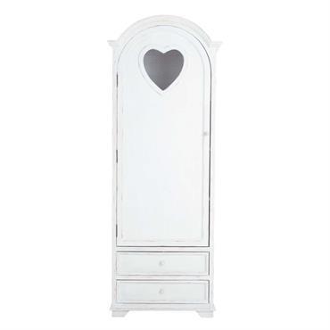 Un cœur pour le romantisme et une peinture blanche patinée pour la douceur, la bonnetière en bois Valentine fera de votre chambre un véritable cocon de bonheur. Cette bonnetière blanche ...