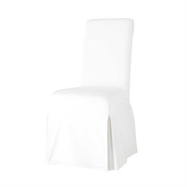 Housse de chaise en coton ivoire Margaux