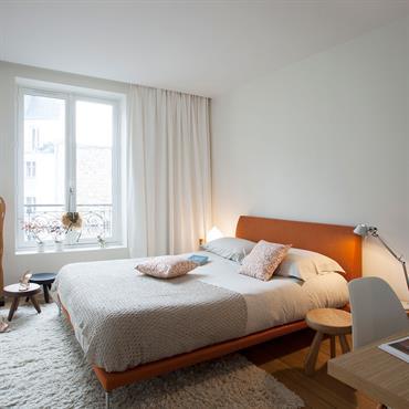 Chambre à coucher d'un appartement Haussmannien à Paris
