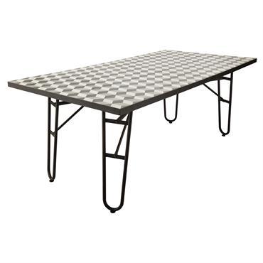 Table de salle à manger en métal L 200 Ceramic