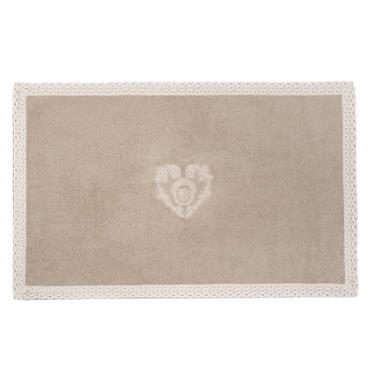 Tapis de bain en coton beige 50 x 80 cm CAMILLE