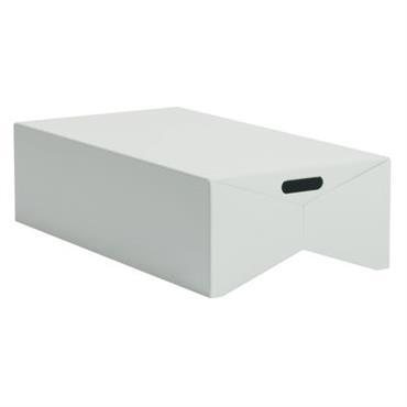 Table basse Box - Moustache Gris clair en Métal