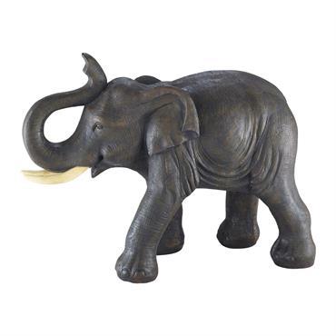 Statuette éléphant en résine grise H 36 cm CUMBA