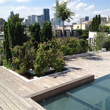 Aménagement de la terrasse et des jardinières