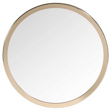 Miroir rond en métal doré D 31 cm CLYDE