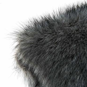 Coussin fausse fourrure gris 45 x 45 cm SCAFFEL