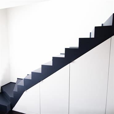 Escalier bois Gris anthracite
