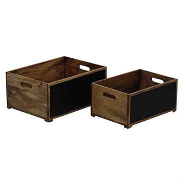2 caisses en bois et ardoise HENDERSON