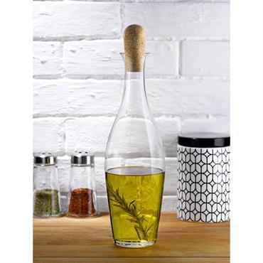 Bouteille pour huile et vinaigre en cristal