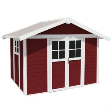 Vous avez besoin dun espace de stockage pour ranger votre salon de jardin design et vos outils ? Alors les abris de jardin Déco 7,5 de Grosfillex, avec leurs 7m² ...