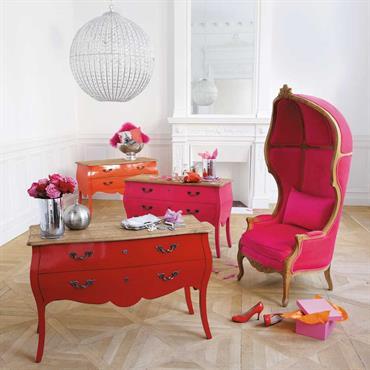 Commode en bouleau rose L 120 cm Haute couture