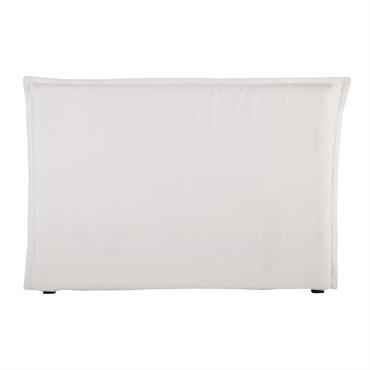 Housse de tête de lit 160 en lin lavé blanche Morphee