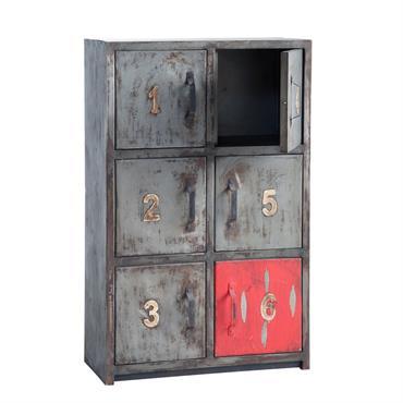 A la recherche d'un intérieur de chambre original et moderne ? Osez le cabinet fer Newton et son style 100 % industriel ! Ce meuble cabinet moderne assurera à votre ...