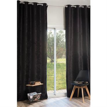 Rideau à œillets en velours noir 140 x 300 cm VINTAGE VELVET BELOUGA