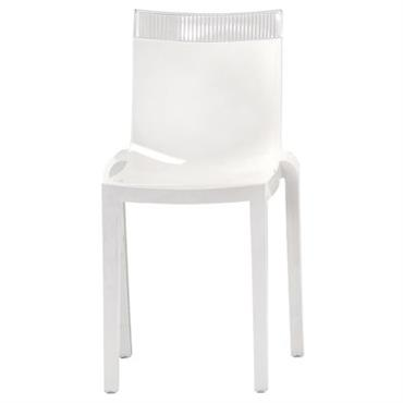 Chaise empilable Hi Cut blanche / Polycarbonate - Kartell blanc