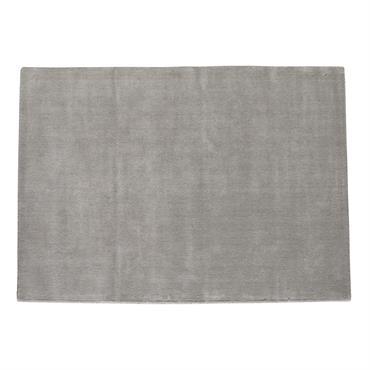 Tapis à poils courts en laine gris 140 x 200 cm SOFT