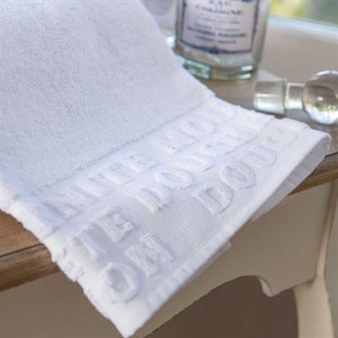 Serviette de bain blanche 70 x 140 cm MODERN