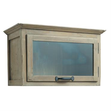 Meuble haut de cuisine ouverture gauche en bois recyclé L 60 cm Copenhague