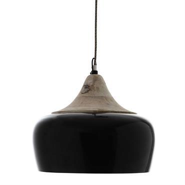 Suspension en métal noire D 34 cm OTAVA