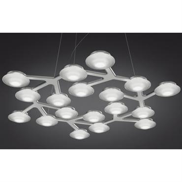 Suspension LED NET circulaire - Ø 65 cm - Artemide Blanc en Métal