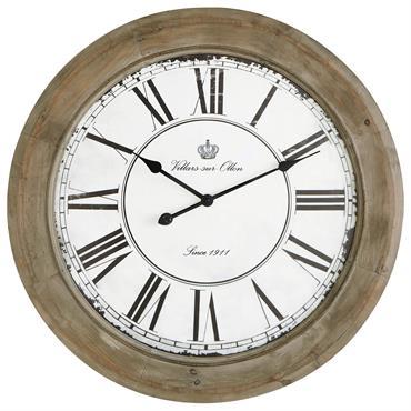 Horloge blanchi D 74 cm CHALET