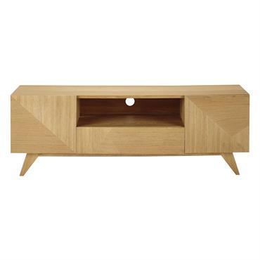 Le meuble TV vintage 2 portes 1 tiroir ORIGAMI au bois clair et lumineux revisite le design des années 50 avec modernité. Tout à fait fonctionnel, ce meuble TV scandinave ...