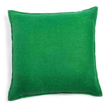Coussin en lin lavé vert 50 x 50 cm