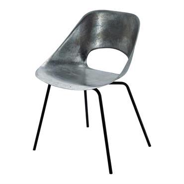 Chaise Guariche en aluminium et métal Tulipe