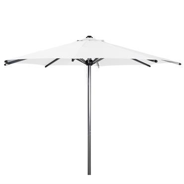 Parasol en tissu et aluminium effet chromé blanc Marbella
