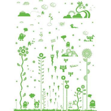 Sticker Mushroom Forest Green - Domestic vert en matière plastique