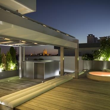 Terrasse d'un appartement luxueux