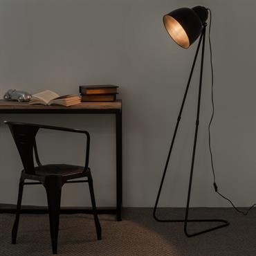 Lampadaire en métal noir H 150 cm ZIGGY