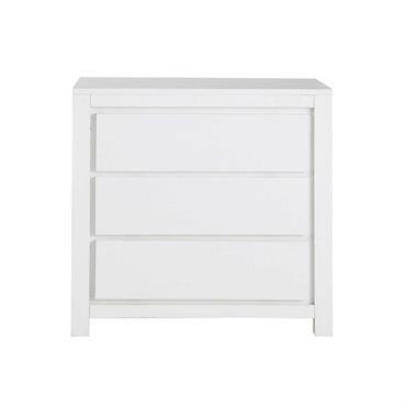 Commode en bois massif blanche L 85 cm White
