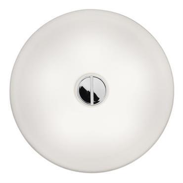 Applique Mini Button / Ø 14 cm - Verre - Flos Blanc