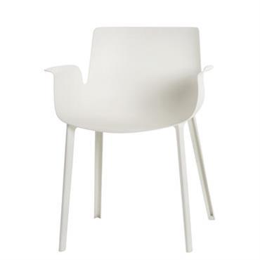 Chaise Piuma / Plastique - Kartell blanc en matière plastique