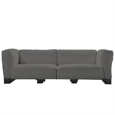 Canapé droit Pop Duo / structure noire - L 255 cm