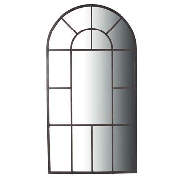 Miroir en métal noir H 205 cm LOIRE