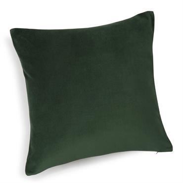 Coussin en velours vert 45 x 45 cm FORÊT