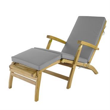Matelas pour chaise longue gris Oléron