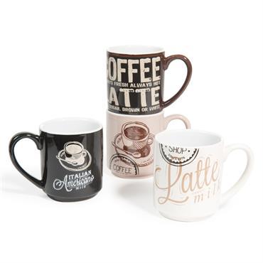 4 mugs en faïence