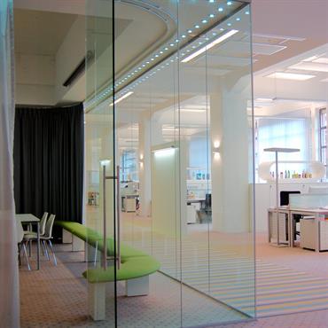 Open space, bureau vitré