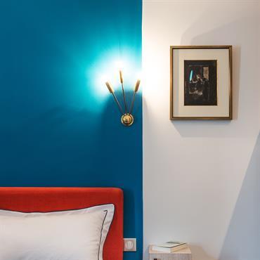 Détail chambre bleue
