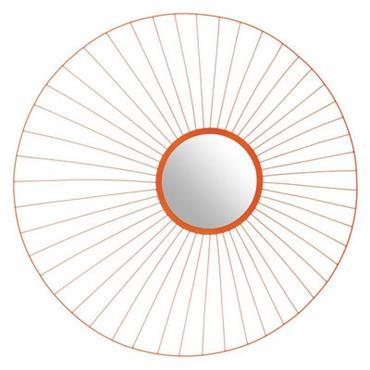 Miroir Primp / Ø 90 cm - Gan Orange fluo en Métal