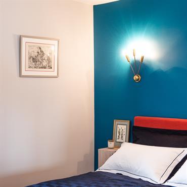 Vue chambre bleue