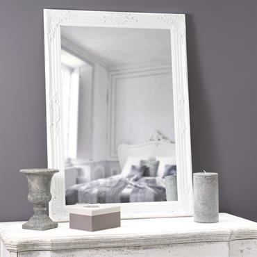 Miroir blanc en paulownia 74x104