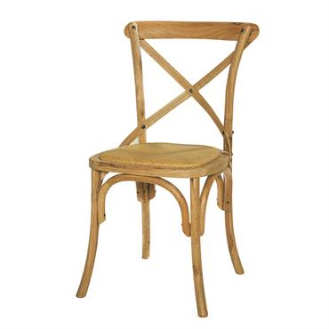 Chaise en rotin naturel et chêne massif Tradition