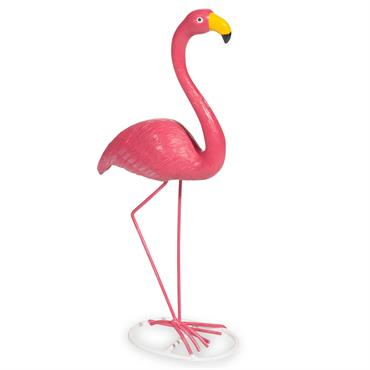 Statuette flamant rose H 27 cm FLAMINGO