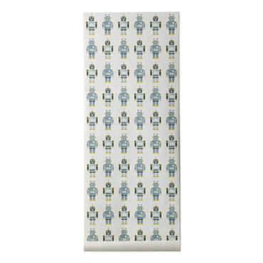 Papier peint Robots / 1 rouleau - Larg 53 cm