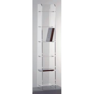 Structure : - Corps monobloc et étagères clipsées - Fabrication sans colle ni vis. - 6 étagères non amovible(80 DVD) Dimensions : L/H/P : 20 x 120 x 20 cm. ...
