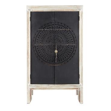 Apportez une touche exotique à votre chambre avec cette armoire de mariage en manguier massif et en métal. Pratique, elle comporte 3 étagères amovibles et 1 barre de penderie. Le ...